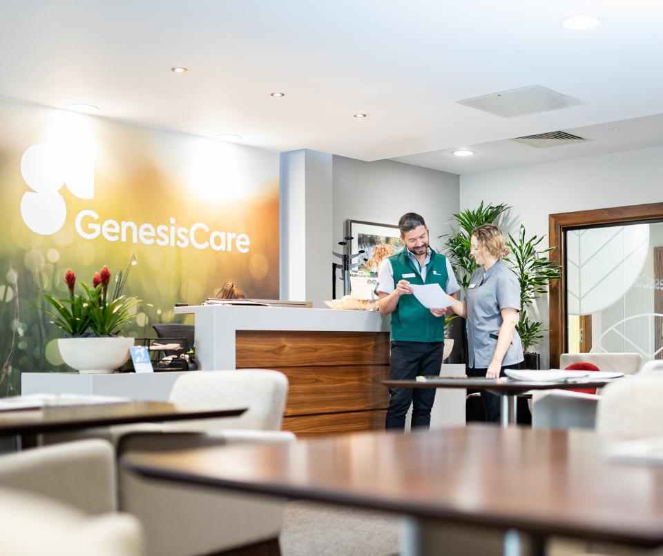 GenesisCare staff in clinic reception
