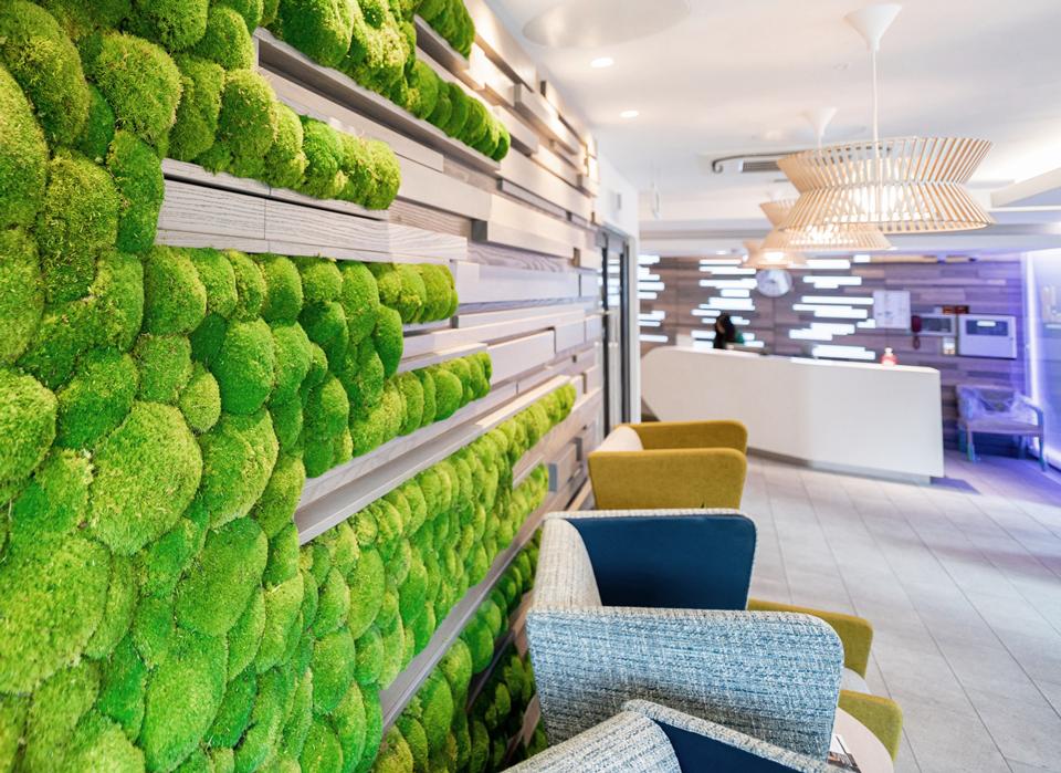 GenesisCare reception living wall